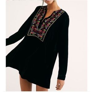 Free People Always Forever Velvet Tunic Dress